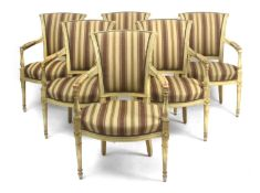 A 20th century Directory's style set of six chairs