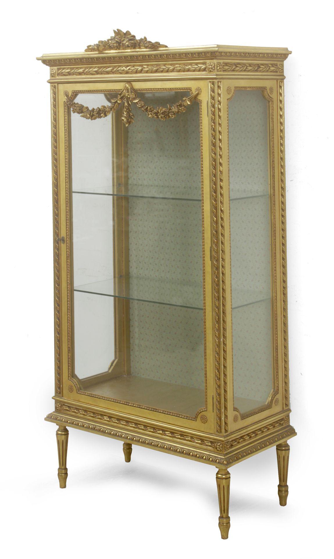 A 20th century Louis XVI style glass cabinet - Bild 2 aus 3