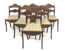 A set of six 19th century English mahogany chairs from Victorian period