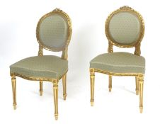 A pair of 19th century Louis XV style chairs