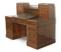 A 19th century English mahogany writing desk