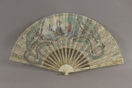 A 19th century French hand fan