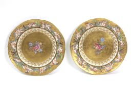 A pair of 20th century Italian dishes in Capodimonte porcelain