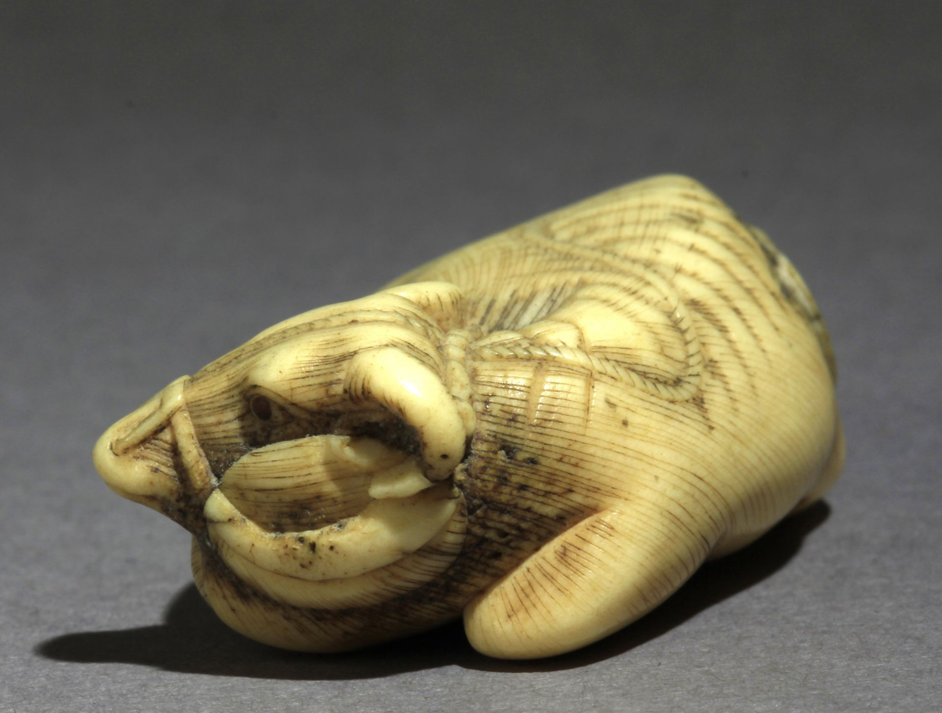 An early 19th century Japanese netsuke from Edo period - Image 3 of 7