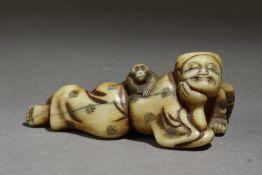 A Japanese netsuke from Edo period circa 1800