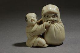 A late 19th century Japanese netsuke from Meiji period