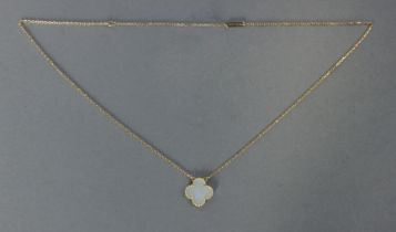 Van Cleef & Arpels. Alhambra pendant and chain