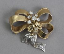 A 19th century diamond brooch