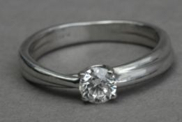 A 0,40 ct. brilliant cut diamond solitaire ring