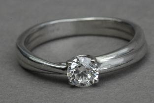 A 0,40 ct. brilliant cut diamond solitaire ring
