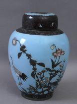 A Japanese tea pot in cloisonné enamel circa 1900