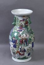 A late 19th century Chinese vase