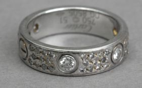 Cartier. Love. Platinum and diamond eternity ring