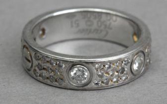 Cartier. Love. Platinum and diamond eternity ring
