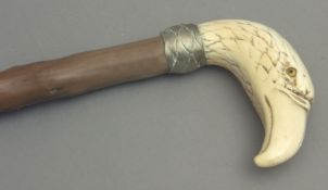 A 19th century walking stick.