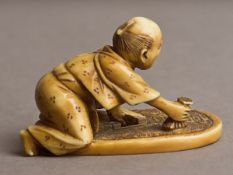 A 19th century Japanese netsuke from Meiji period. Signed