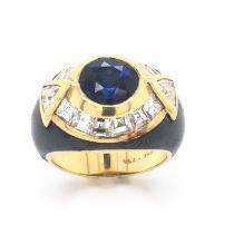 Faraone Sapphire & Diamond Ring