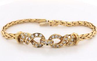 Bulgari Gold & Diamond Bracelet