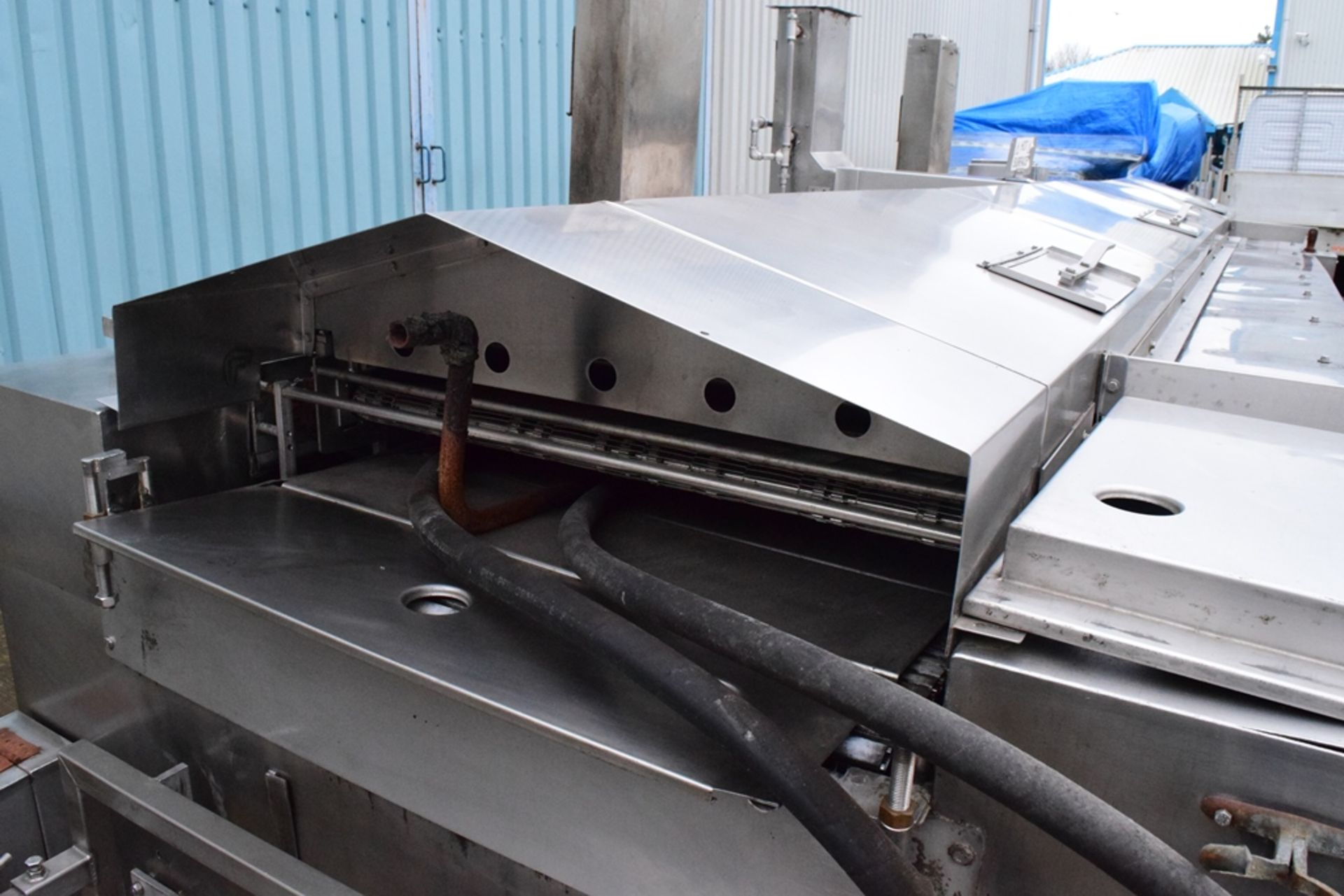 JBT Stein Natural Gas Fryer, with hydraulic canopy Hoist, frying length approx. 4000mm, frying width - Image 3 of 3