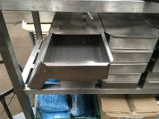 26 Stainless Steel Lidded Boxes, with perforated base, serial no. N/A, plant no. N/A, year of