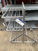 Stainless Steel Mobile Trolley, approx. 0.75m x 1m x 1.3m high, lift out charge - £20, lot