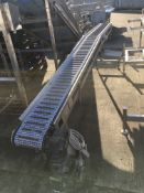 Anglia Autoflow Intralox Type Conveyor Belt, with rubber grip flights, serial no. N/A, plant no. N/