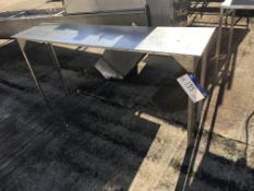 Stainless Steel Table, on metal frame , serial no. N/A, plant no. N/A, year of manufacture N/A,