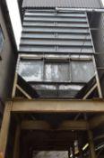 Four Rowlands x Two Compartment x 13 tonne (nut cap.) Bulk Outloading Bin Complex, approx. 10m x 3.