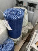 Eight Rolls of Plastic Belts, approx. 300mm x five, 200mm x two, 250mm x one and 550mm x one, lift