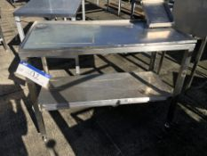 Stainless Steel Table, with shelf underneath , serial no. N/A, plant no. N/A, year of manufacture