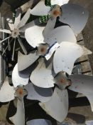 Five Fans, three phase, serial no. N/A, plant no. N/A, year of manufacture N/A, dimensions