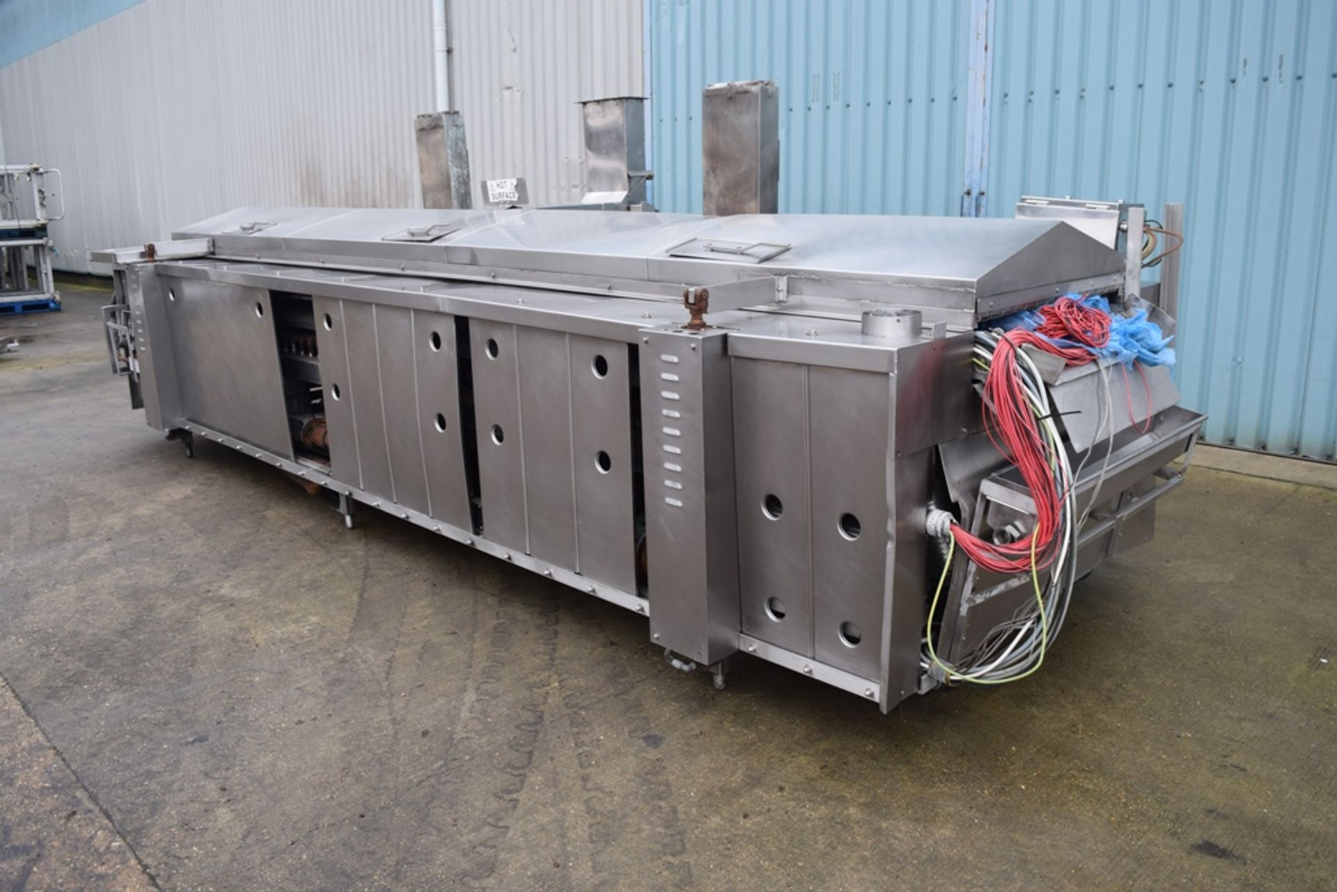 JBT Stein Natural Gas Fryer, with hydraulic canopy Hoist, frying length approx. 4000mm, frying width - Image 2 of 3