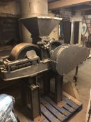 BMH U126 Roller Mill, roll width approx. 8in x 20in dia., motor understood to be 10hp, loading