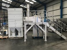 Kemutec KEK/Gardner Stainless Steel U-trough Powder Mixing System, 400 litre capacity, high-