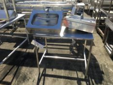 Stainless Steel Table, with two wall mounted sinks , serial no. N/A, plant no. N/A, year of