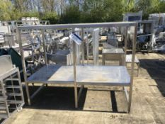 Stainless Steel Heavy Duty Shelving Rack, serial no. N/A, plant no. N/A, year of manufacture N/A,