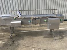Twin Infeed Coveyor - belt width250mm x belt height 1.04m , serial no. N/A, plant no. N/A, year of