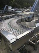 90 Degree Twin Slatted Belt Conveyor, 300mm wide , serial no. N/A, plant no. N/A, year of