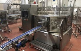 Regal 12000 Rotary Pot Filler, with twin-nozzle filling head, tooled for 80mm square cups, product