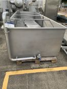 Stainless Steel Open Top Tank, approx. 950mm high x 5100mm long x 1600mm wide, loading charge - £50,