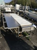 Drives Roller Conveyor, with sorting area, 0.36m wide roller , serial no. N/A, plant no. N/A, year