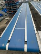 Protech Three Lane Sorting Conveyor, middle lane 300mm wide, outside lanes 200mm , serial no. N/A,