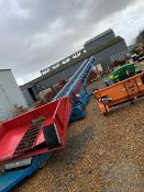 David Harrison Model E Inclined Mobile Chevron Belt Conveyor, 16m long on belt, belt width 800mm