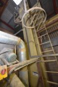 STEEL CASED BELT & BUCKET ELEVATOR, approx. 380mm wide on casing, approx. 7m centres high, with