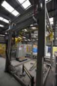 Lawson Mardon MANCON 2000 RING PALLET WRAPPER (not installed), with control panel, frame approx. 3.