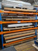 Contents of One Bay of Rack, including assorted sheet materials including MDF, chip board and