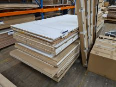 Quantity of MDF Sheets, approx. 2440mm x 1220mm x 18mm thickness, as set out on pallet