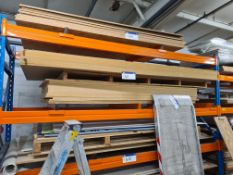 Nine Sheets of MDF, approx. 3070mm x 1540mm x 18mm thickness, and 16 sheets of MDF, approx. 2440mm x