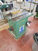 Wadkin Bursgreen 12 AGS TILT ARBOR ARBOUR SAW BENCH, machine no. 12 AGS 64813, bed approx. 900mm x
