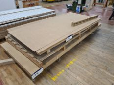 13 Sheets of MDF, approx. 2440mm x 1220mm x 3.2mm thickness, as set out on pallet